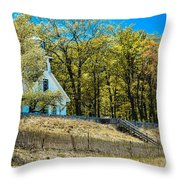 Mission Point Light House Michigan Throw Pillow
