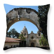 Mission San Carlos Borromeo Del Rio Carmelo Throw Pillow