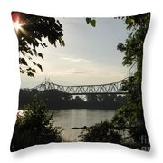 Missouri River Sunrise  Throw Pillow
