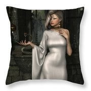 Mistress Of Poisons Throw Pillow