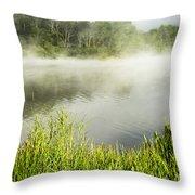 Misty Summer Morning  Throw Pillow