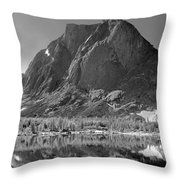 109644-bw-mitchell Peak, Wind Rivers Throw Pillow