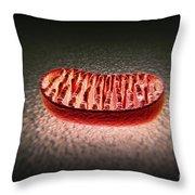 Mitochondria Cut Throw Pillow