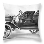 Model T Ford, 1908 Throw Pillow