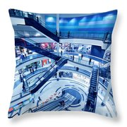 Modern Shopping Mall Interior Throw Pillow