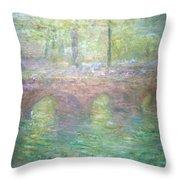 Monet's Waterloo Bridge In London At Dusk Throw Pillow