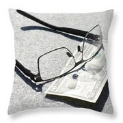 Money And Eyeglasses Throw Pillow