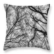Monochrome Forest Throw Pillow