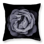 Monochrome Rose Throw Pillow