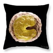 Monocyte Cell Throw Pillow