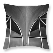 Monona Terrace Windows Throw Pillow