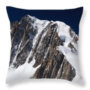 Mont Blanc Massif Throw Pillow