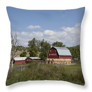 Montana Farm Throw Pillow