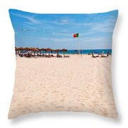 Montegordo Beach Throw Pillow
