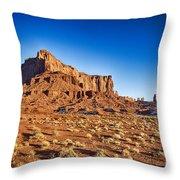 Monument Valley -utah V5 Throw Pillow