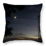 Moon And Stars In My Eyes Throw Pillow