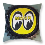 Moon Cap Throw Pillow