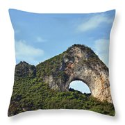 Moon Hill, Yangshuo, China Throw Pillow