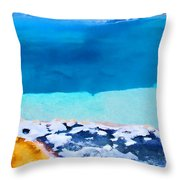 Moon On Earth 4 - Yellowstone Throw Pillow