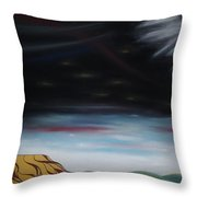 Moon Tower Throw Pillow