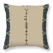 Moore Written In Ogham Throw Pillow