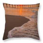 morning at  Myrtle Beach South Carolina Throw Pillow
