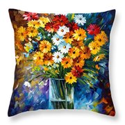 Morning Charm Throw Pillow by Leonid Afremov