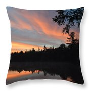 Morning Stillness Throw Pillow