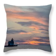 Blue Morning Whispers Throw Pillow