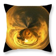 Morphed Art Globe 7 Throw Pillow