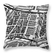 Moscow: Kitai-gorod Map Throw Pillow