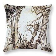 Mother Goose, 1913 Throw Pillow