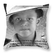 Motivate Throw Pillow