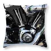 Motorcycle Engine Throw Pillow