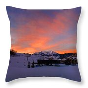 Mount Crested Butte Throw Pillow