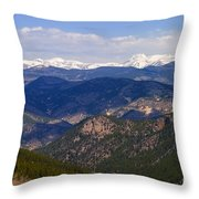 Mount Evans And Continental Divide Throw Pillow