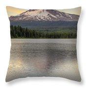 Mount Hood At Trillium Lake Sunset Throw Pillow