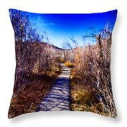 Mountain Creek Path-sundance Utah Throw Pillow