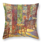 Mountain Lake Evening Throw Pillow