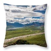 Mountain Landscape Throw Pillow