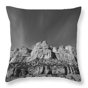 Mountain Peaks And Shimmering Sky Throw Pillow