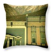 Mountain Town Throw Pillow