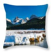 Mountains In Spring Throw Pillow