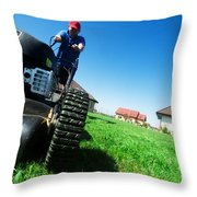 Mowing The Lawn Throw Pillow
