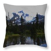 Mt Baker Washington  Throw Pillow