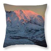 Mt. St. Helens Sunset Throw Pillow