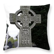 Muiredach's Cross - Monasterboice Throw Pillow