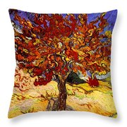 Mulberry Tree Throw Pillow