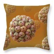 Murine Polyomavirus Throw Pillow