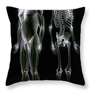 Muscles And Bones Throw Pillow